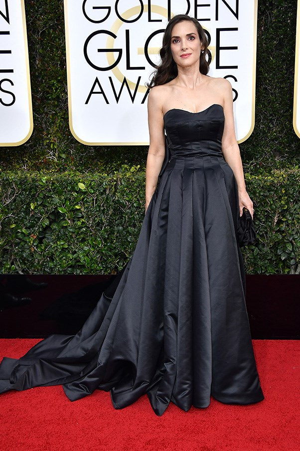 """<strong>Winona Ryder in Viktor & Rolf couture</strong><br><br> """"There was a lot of safe on the red carpet, safe and boring. I'm looking at you Amanda Peet and Winona Ryder."""" - Kellie Hush, editor-in-chief<br><br> """"True to form. Winona is still the same dark 90s heroine she always was, but the simplicity and power of this Victor & Rolf dress signify she is definitely back."""" - Eliza O'Hare, travel and culture editor<br><br> """"Where did our favourite boundary-pushing fashion icon go? This is far too safe, bordering on ugly."""" - Anna Lavdaras, beauty writer<br><br> """"Winona forever!"""" - Clare Maclean, executive editor"""