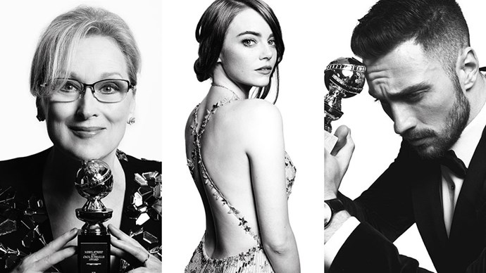 <p>When Mert and Marcus shoot your after-party photos, you know they're going to be stunning. See the results of their backstage photo sessions at the Golden Globes.