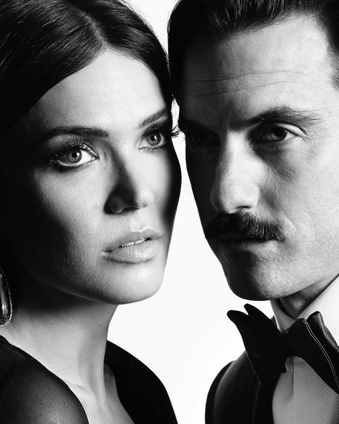 "Mandy Moore and Milo Ventimiglia. <br><br> Image: <a href=""https://www.instagram.com/p/BPCKAA2DLD0/"">@goldenglobes</a>"