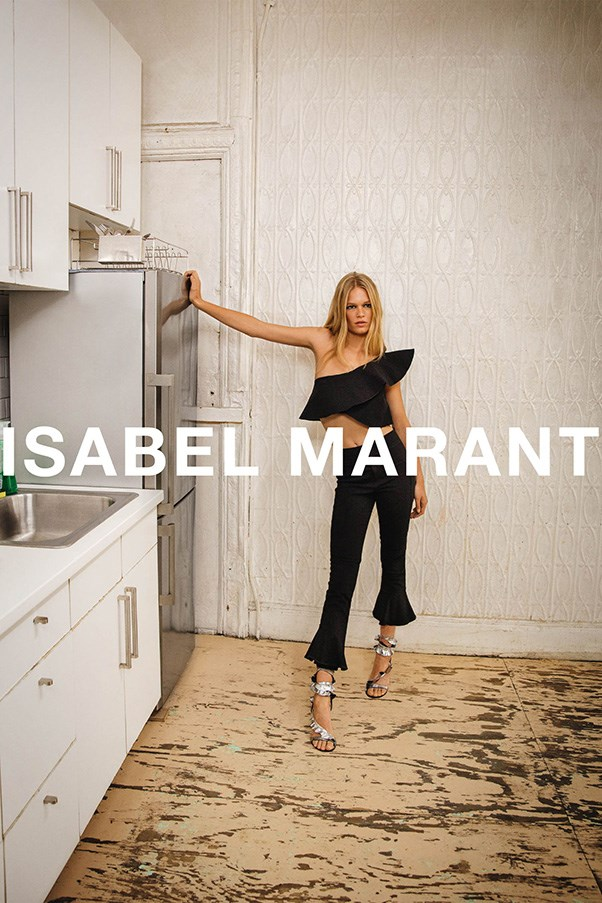 <strong>Isabel Marant</strong><br><br> Modelled by Anna Ewers, shot by Inez and Vinoodh.