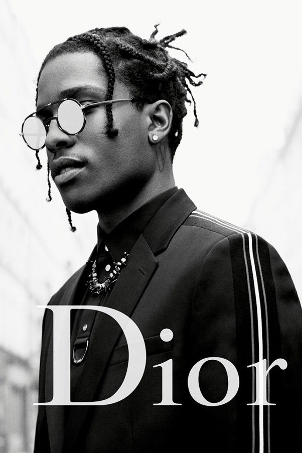 <strong>Dior Homme</strong><br><br> Modelled by A$AP Rocky, shot by Willy Vanderperre.