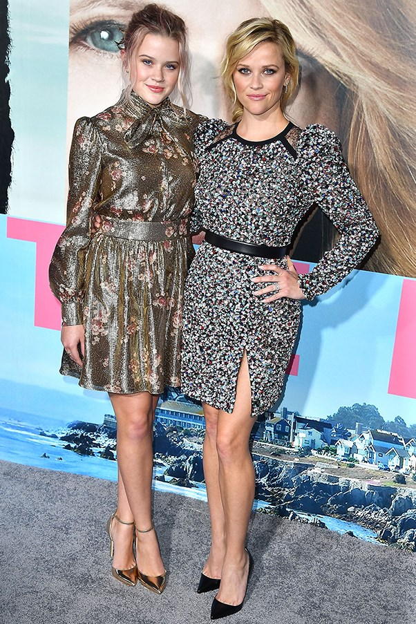 <strong>Reese Witherspoon and Ava Phillippe</strong> <BR><BR> These two don't just look identical, they dress the same too. The adorable mother-daughter duo are pictured wearing long sleeve, above the knee dresses and pulled back hair at the premiere of <em>Big Little Lies</em> in L.A. last night.