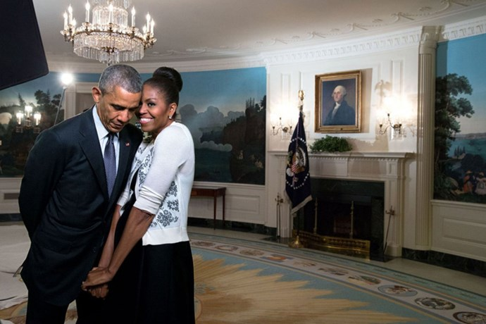 "<strong>Barack Obama</strong> <BR><BR> ""Happy Valentine's Day, @michelleobama! Almost 28 years with you, but it always feels new."""