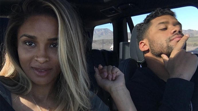 "<strong>Ciara</strong> <Br><BR> ""Me and My Life Partner aka My Sweet Valentine Cruisin.... #HappyValentinesDay 2 you and yours! ❤️"""