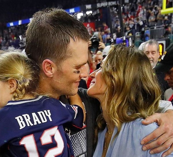 "<strong>Tom Brady</strong> <BR><BR> ""My littlest valentine and my Numero Uno...happy Valentine's Day! ❤"""