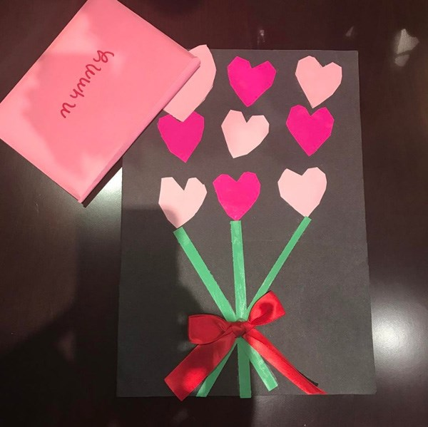 "<strong>Victoria Beckham</strong> <BR><BR> ""My little Valentine x VB"""