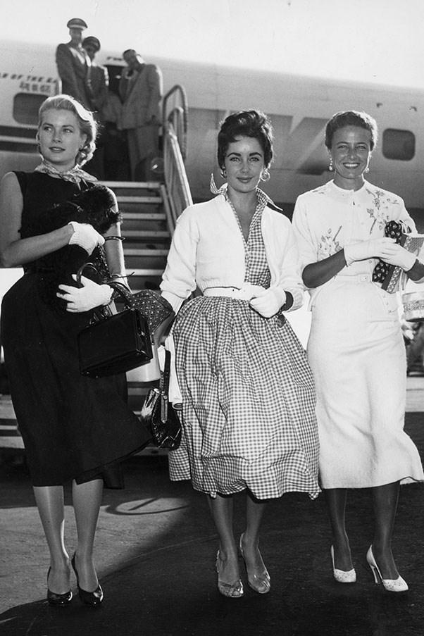 Grace Kelly, Elizabeth Taylor and Lorraine Day, 1955