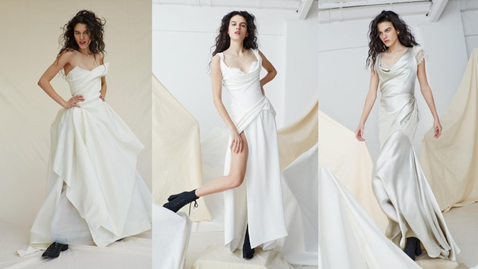 Vivienne Westwood has released a collection of 14 couture and ready-to-wear wedding dresses, both of new designs and modelled off classics, for the chic bride-to-be.