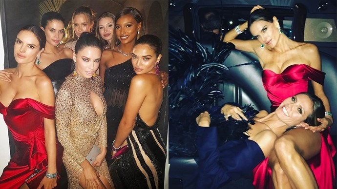 Here, we take a look into the Victoria's Secret reunion at the Oscars Vanity Fair after party.