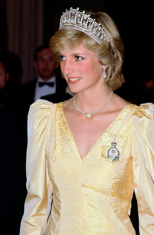 Wearing the Cambridge Lover's Knot tiara in 1983.