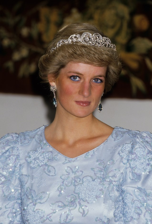 Wearing the Spencer Tiara whilst on tour in Munich.