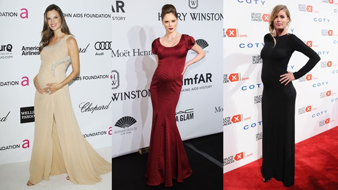 When it comes to maternity chic, it's not surprising that some of the most memorable moments come from the most beautiful women in the world: supermodels. From Cindy Crawford and Claudia Schiffer to Miranda Kerr and Rosie Huntington-Whiteley, these women defined their era, along with what it meant to be both pregnant and fashionable at the same time. Here, <em>BAZAAR</em> rounds up all the most memorable supermodel maternity looks ever.