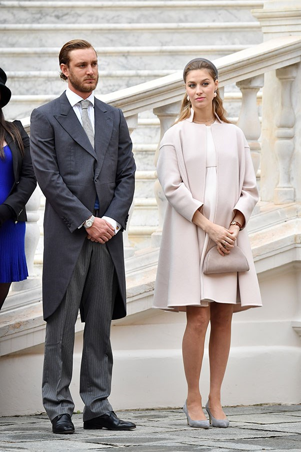 With husband Pierre Casiraghi at Monaco's National Day celebrations, November 2016.