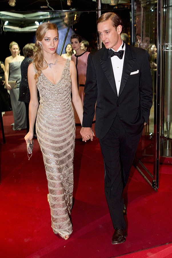 With husband Pierre Casiraghi at the Rose Ball, March 2015.