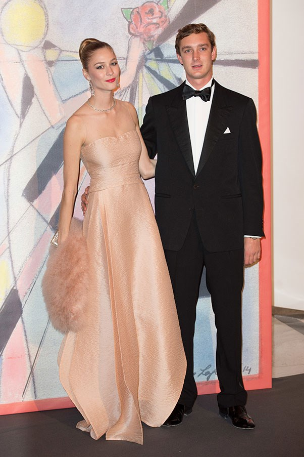 With husband Pierre Casiraghi at the Rose Ball, March 2014.