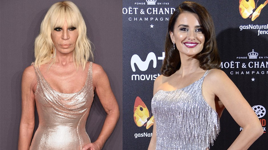Donatella Versace and Penelope Cruz