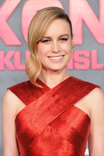 Brie Larson red dress