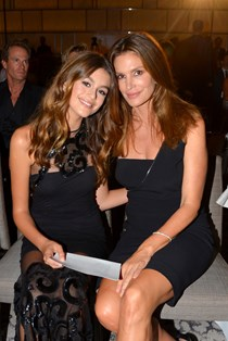 Cindy Crawford and Kaia Gerber hair
