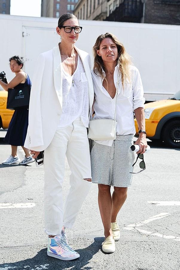 With partner Courtney Crangi at New York fashion week.