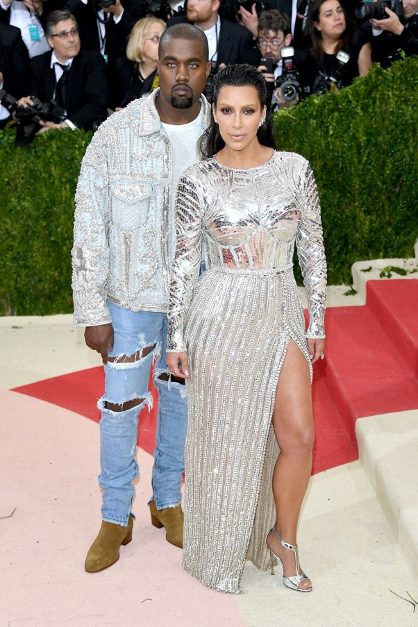 <strong>2016</strong> <br><br> When we couldn't stop staring at Kim and Kanye's matching Balmain looks—or Kanye's eerie colored contacts.