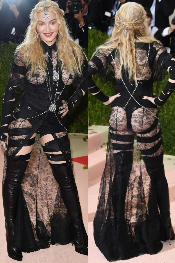 <strong>2016</strong> <br><br> When Madonna bared it all in lace Givenchy.