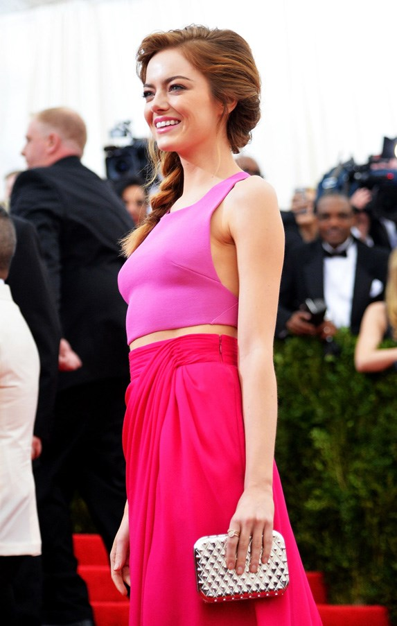 <strong>2014</strong> <br><br> When Emma Stone proved once and for all that redheads can wear pink.