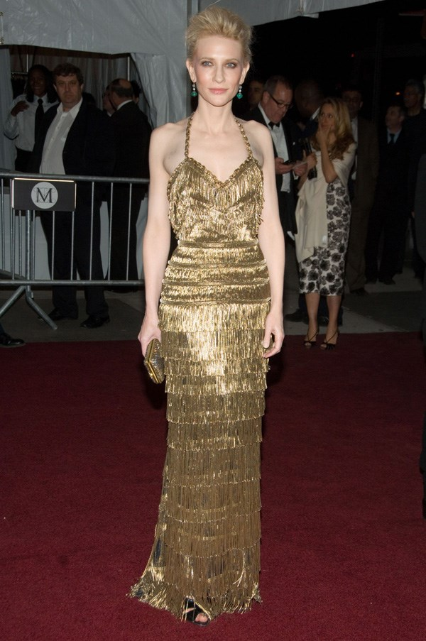 <strong>2007</strong> <br><br> When Cate Blanchett was basically a beautiful golden statue in Balenciaga.