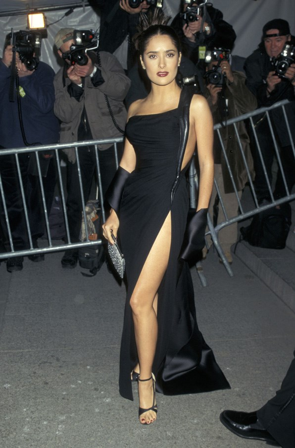 <strong>1997</strong> <br><br> When Salma Hayek had an Angelina Jolie leg moment long before Angelina did.