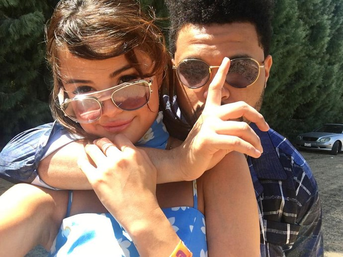 """<strong>Selena Gomez and The Weeknd</strong> <br><br> Image: <a href=""""https://www.instagram.com/p/BS7VkPTg0-s/"""">@selenagomez</a>"""