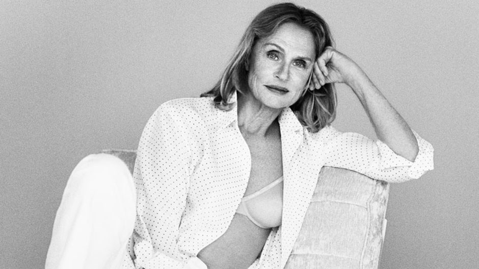 73 year old Lauren Hutton Face of Calvin Klein underwear