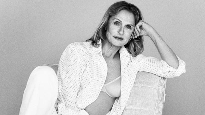 73 year old Lauren Hutton Face of Calvin Klein underwear