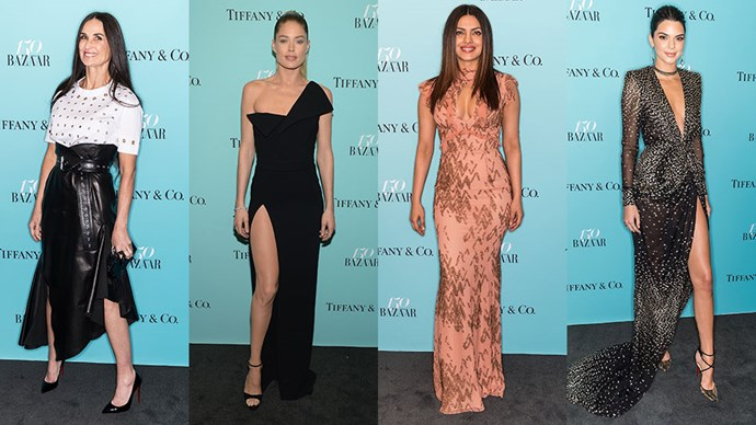 See what the A-list wore to celebrate <em>Harper's BAZAAR</em>'s 150th anniversary in New York city, in partnership with Tiffany & Co.