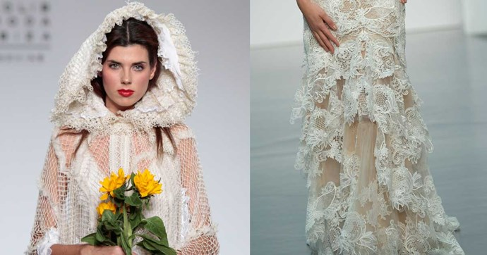 <em>BAZAAR</em> rounds up the five prettiest trends from Milan bridal fashion week so far.