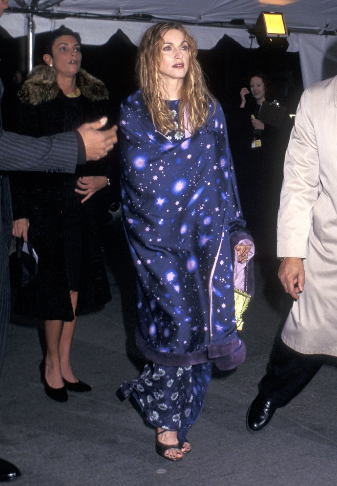 <p><strong>MADONNA</strong> <p>in Versace, 1997