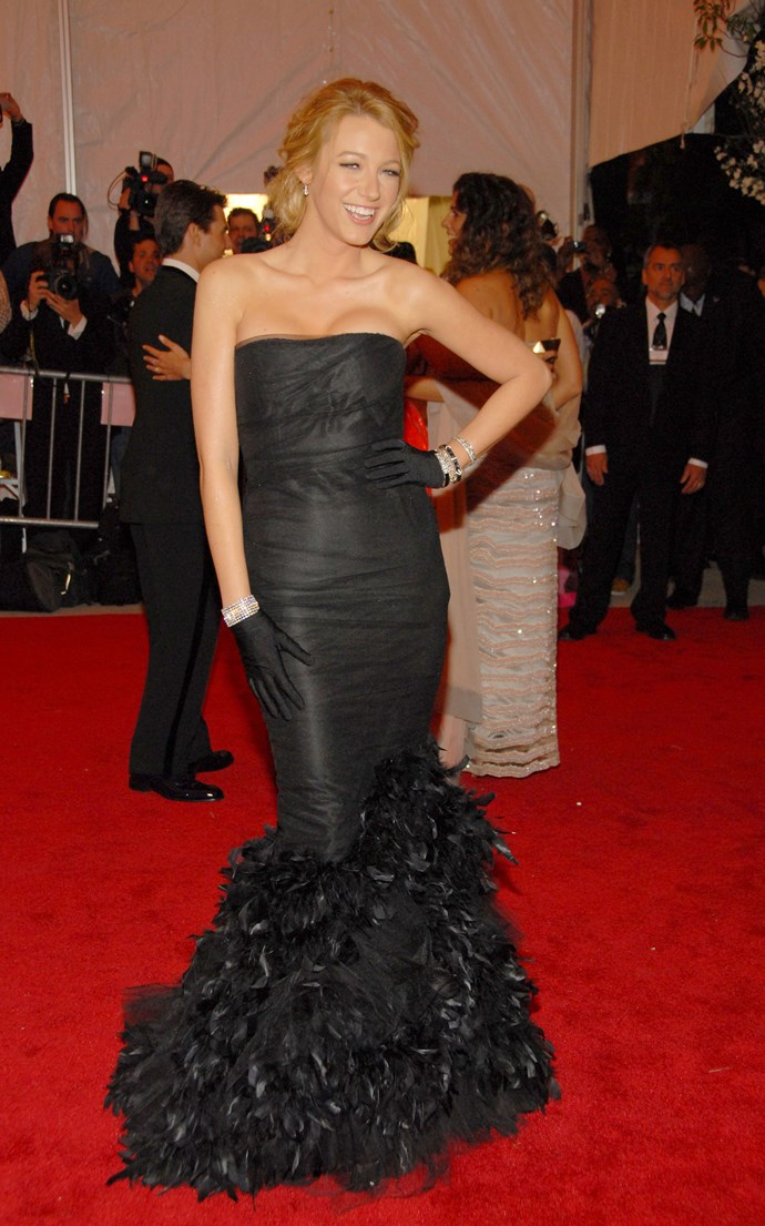 <p><strong>BLAKE LIVELY</strong> <p>in Ralph Lauren, 2008