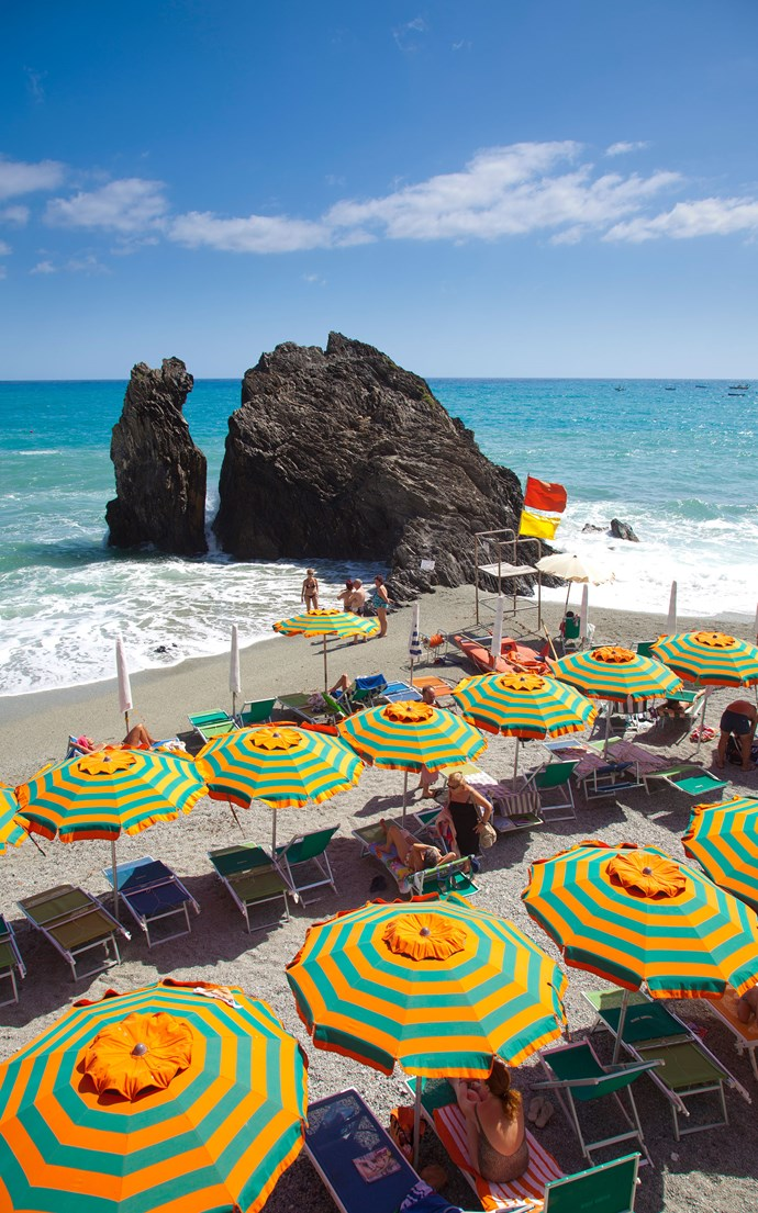 <p><strong>Monterosso Al Mare, Italy</strong> <p>Home to the Cinque Terre's only sand beach, Monterosso al Mare is the spot to post up for a long day of sunbathing on the Italian Riviera.