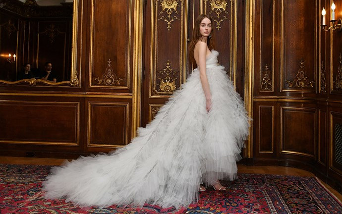 <em>BAZAAR</em> rounds up the most breathtakingly beautiful dresses for New York bridal fashion week so far.