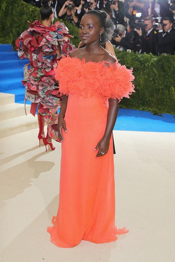 Lupita Nyong'o in Prada and Tiffany & Co. jewellery
