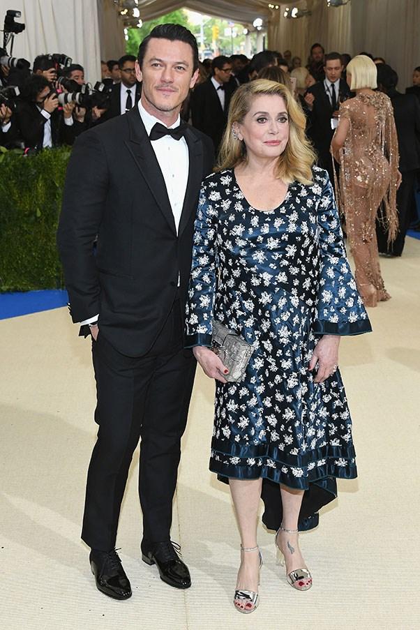 Luke Evans and Catherine Deneuve