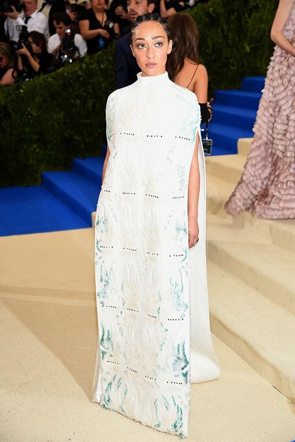 Ruth Negga in Valentino and Tiffany & Co. jewellery