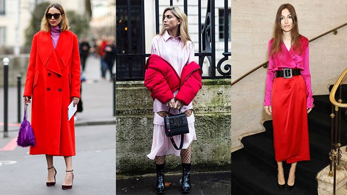 Wearing pink and red together was once a fashion faux pas. Now, it's one of fashion's coolest colour pairings. Here's how to pull it off.