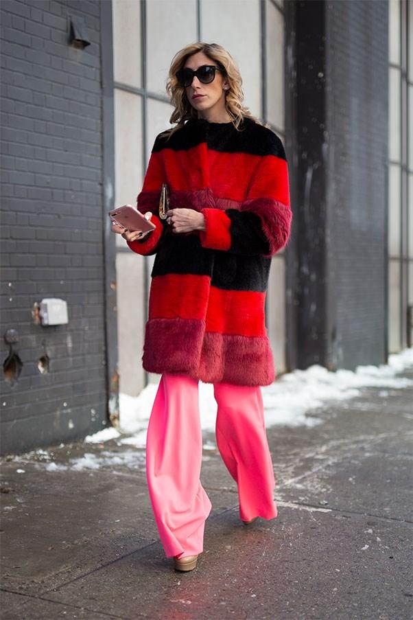 A showgoer at Paris fashion week autumn winter '17