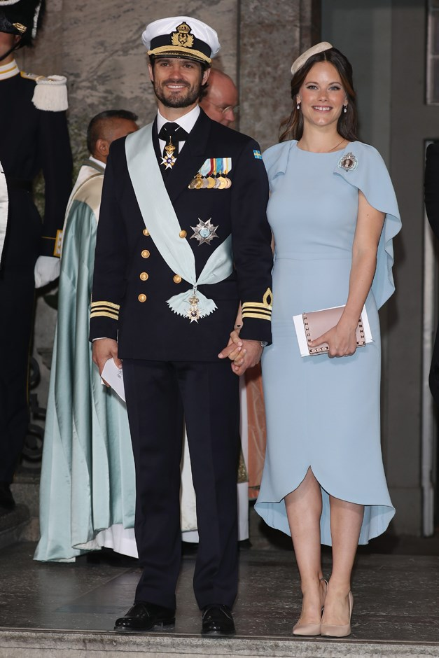 Attending the christening of Prince Oscar. May, 2016.