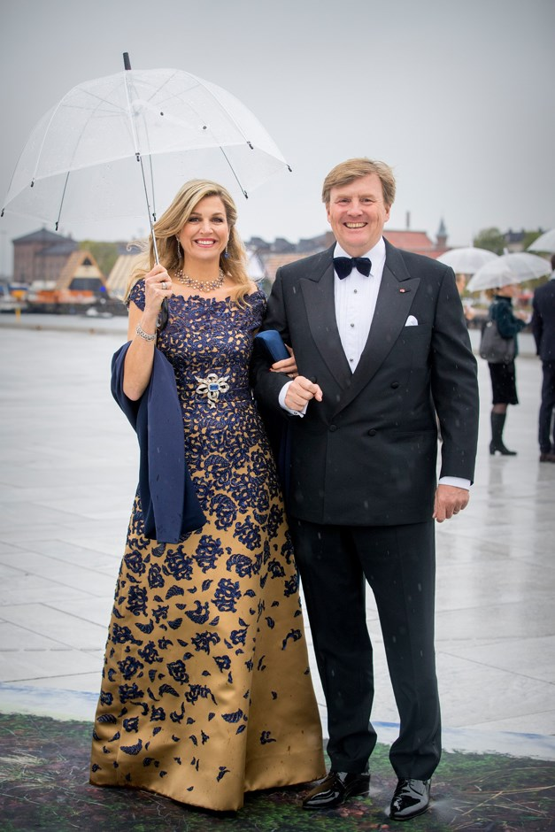 Queen Máxima of the Netherlands, in Claes Iversen, and King Willem-Alexander.