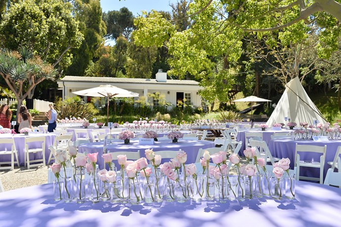 Flowers adorned every table