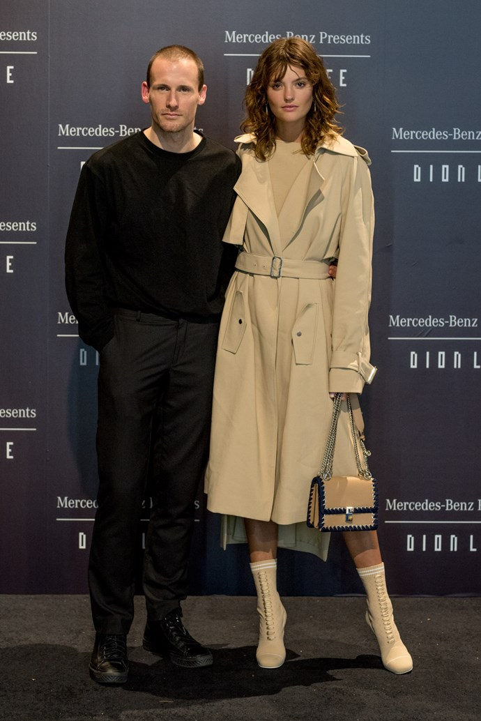 Dion Lee and Montana Cox at the opening night dinner in honour of Dion Lee.