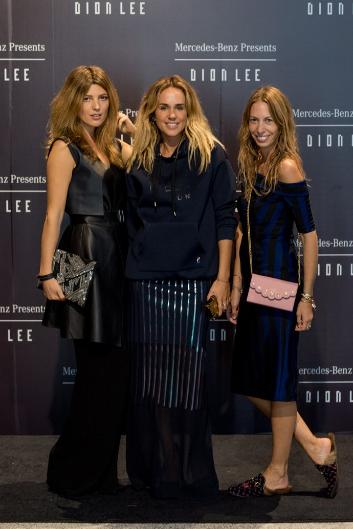 Tanja Gacic, Pip Edwards and Romy Frydman at the opening night dinner in honour of Dion Lee.