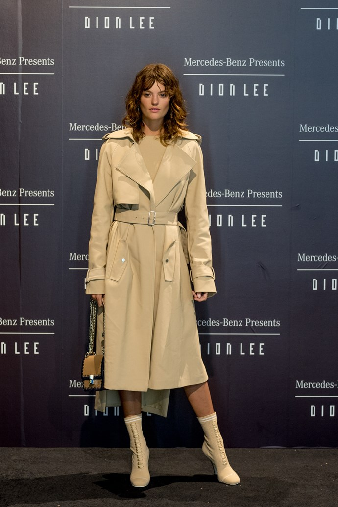 Montana Cox at the opening night dinner in honour of Dion Lee.