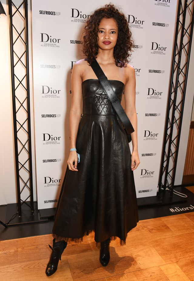 Malaika Firth at the launch of the Dior Pump 'N' Volume Mascara.