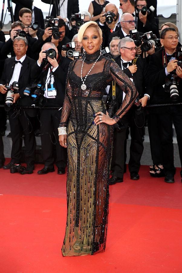 Mary J. Blige in Reem Acra